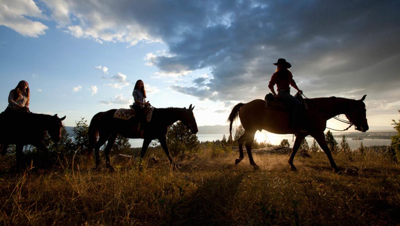 Trail ride at Averills Ranch