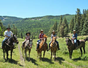 Family ride at Rainbow Trout Ranch
