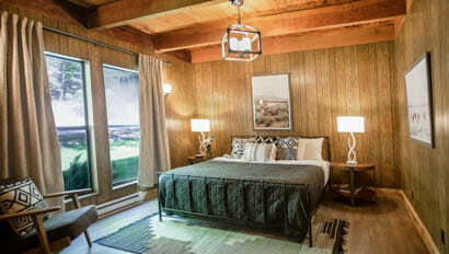 Bedroom with a view at Greenhorn Ranch