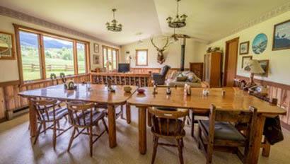 Dining room at Hidden Hollow Ranch