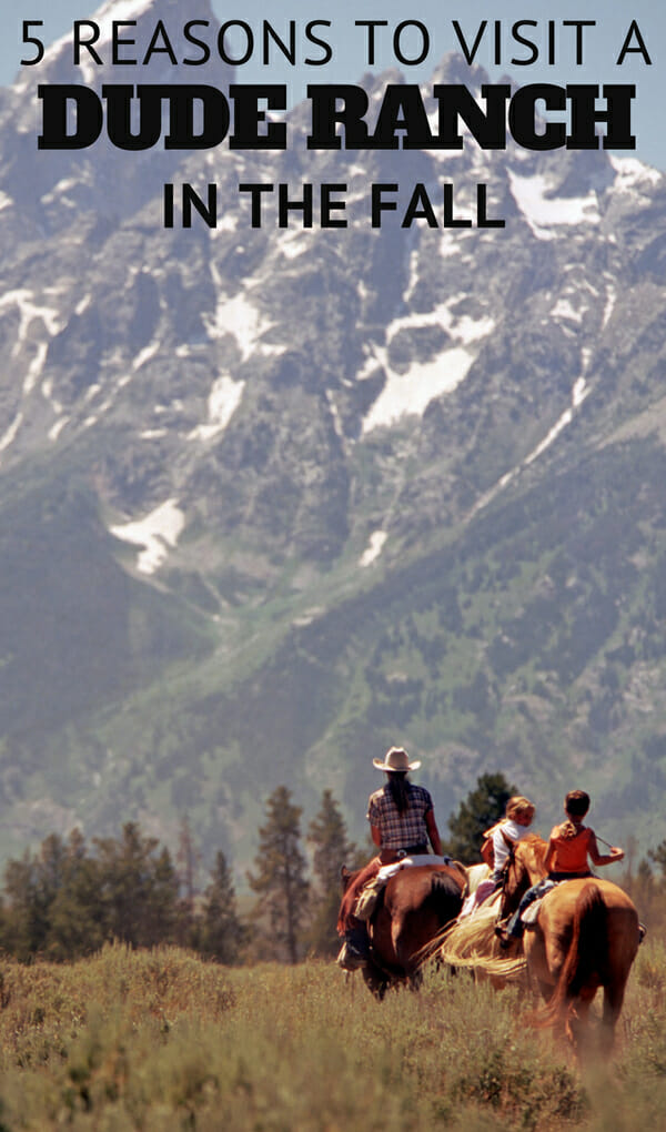 Fall is quickly approaching and will give you 5 good reasons to visit a dude ranch. Whether you're looking for fall break travel ideas, a long weekend away without the kids or an extended vacation, a dude ranch is an ideal destination to enjoy the fall.