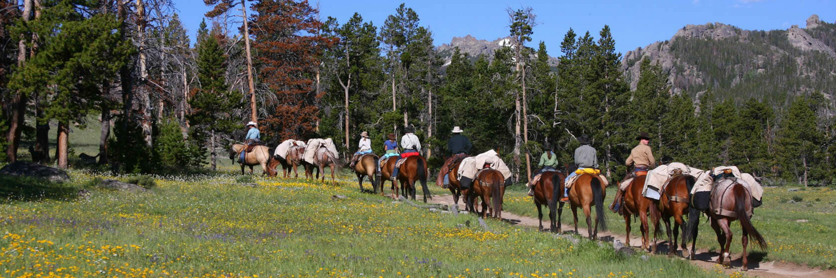 Pack trip at Allens Diamond 4 Ranch