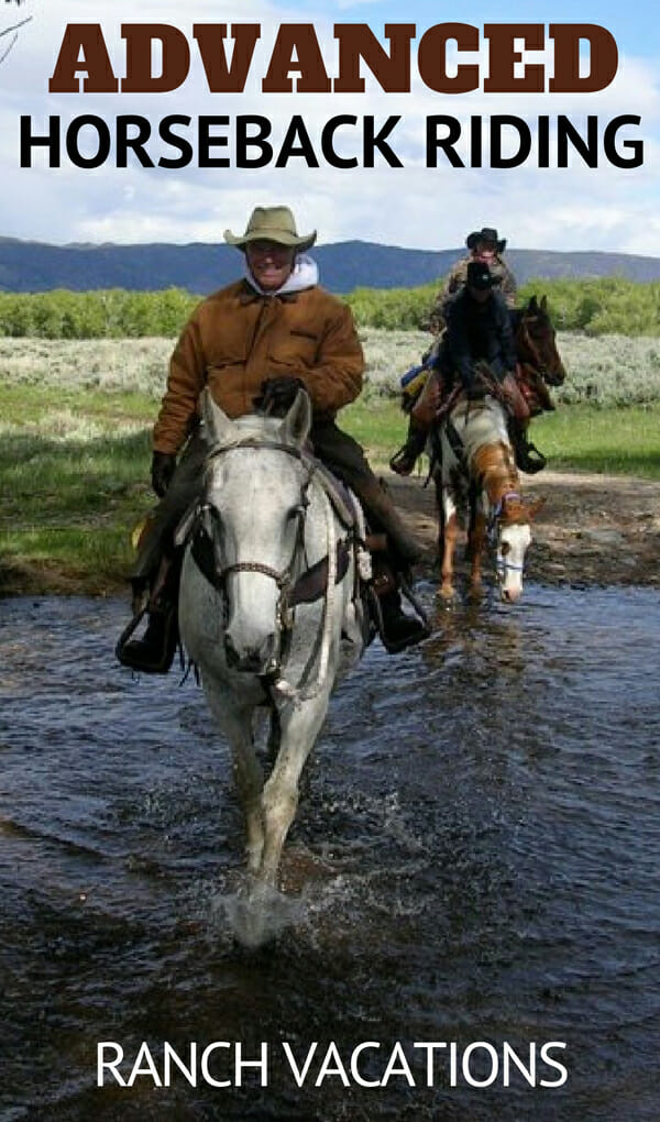 Would you like to ride out on the open prairie shoulder to shoulder?  If so there are great ranch vacations offering advanced horseback riding opportunities as the terrain permits all across the Western United States. Read about them here.