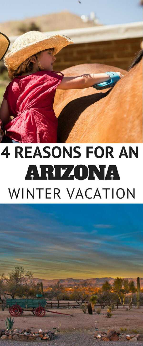 Arizona is a wonderful place to vacation, especially to beat the winter blues. With a consistently warm and predictable climate, it's no wonder people flock to Arizona during the winter months to enjoy the outdoors. On a ranch vacation you'll enjoy horseback riding, fine western dining, perfectly appointed accommodations and many other western lifestyle activities. Here are four reasons Arizona winters are great for ranch vacations.