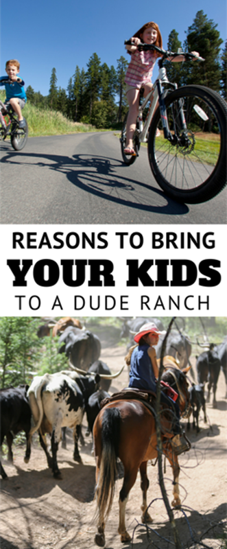 From babies to teenagers there are plenty of guest ranch options that cater to families. Many offer kids clubs or nanny services so everyone can have fun. Ranches help kids connect to nature with supervised activities like horseback riding, bike riding, hiking, fishing, zip lining, rock climbing, and rafting.