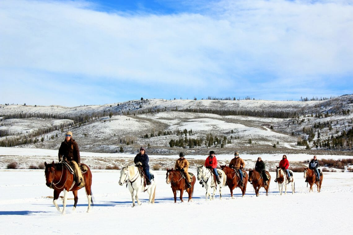C Lazy U Ranch Winter Horseback Riding