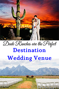 A destination wedding is usually a white sandy beach and crystal clear water. For someone looking for something different a dude ranch is the perfect venue!