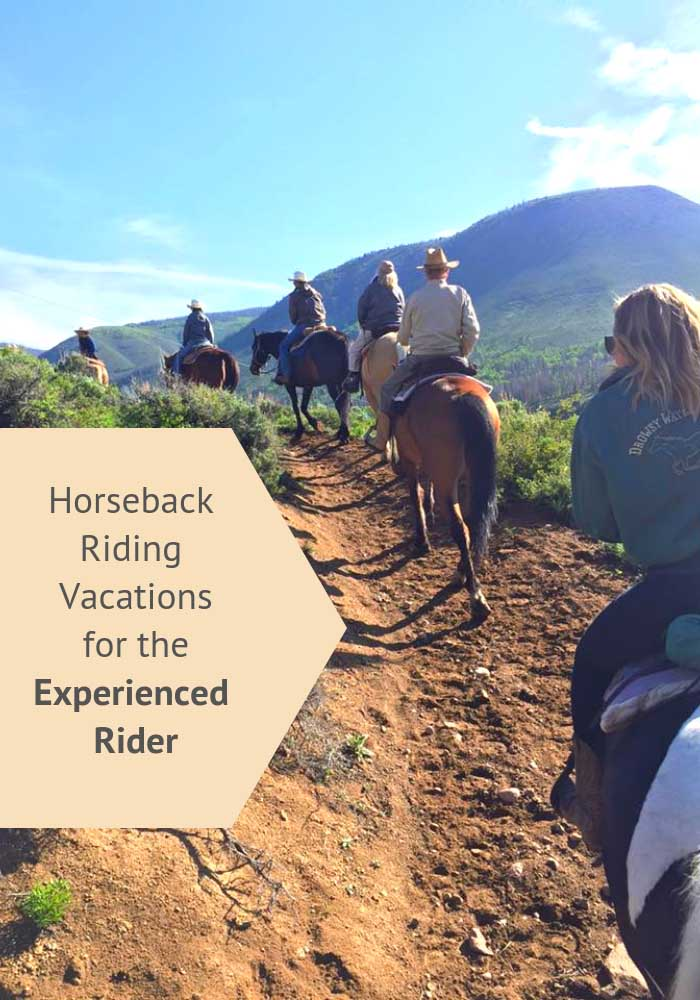 For experienced riders, there is a great opportunity to ride out and traverse through the mountains on one of these advanced dude ranch vacations.