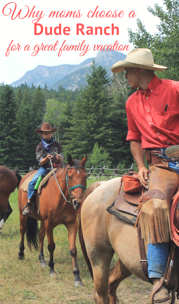 ude ranches make an incredibly memorable and enjoyable family vacation - for moms especially. With a sense of togetherness and shared experiences moms and the whole family are sure to love their time in the great outdoors. Read about all the reasons moms choose dude ranch vacations for a great family vacation.