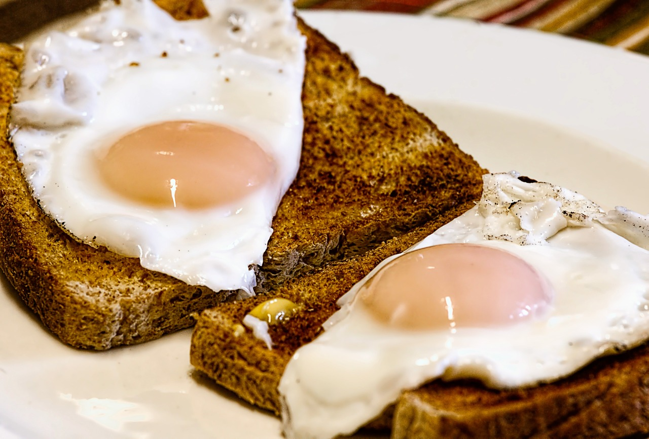 Good old' fashioned eggs and toast breakfast – one of many options at your dude ranches.