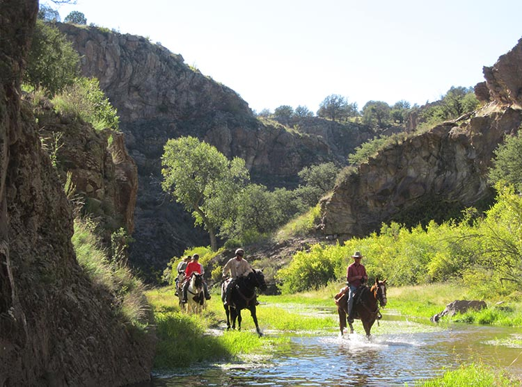 Geronimo Trail Ranch Creek Crossing in the Canyon - Spring Break Destinations