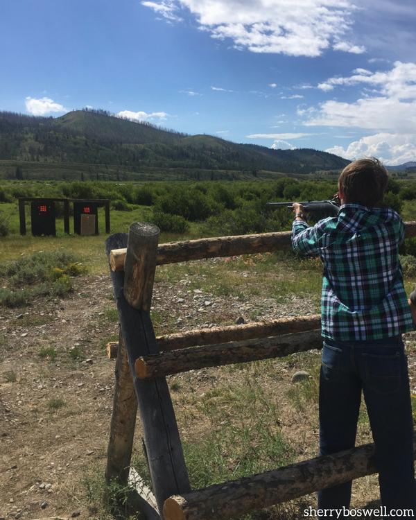 Target Shooting at Goosewing Ranch
