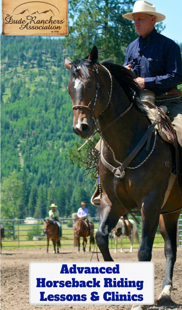 Horseback riding lessons and clinics are the quickest way to better your skills in riding, your safety and your understanding of horses. The Dude Ranchers' Association offers the best options for a vacation experience designed around your skills and abilities with horses.