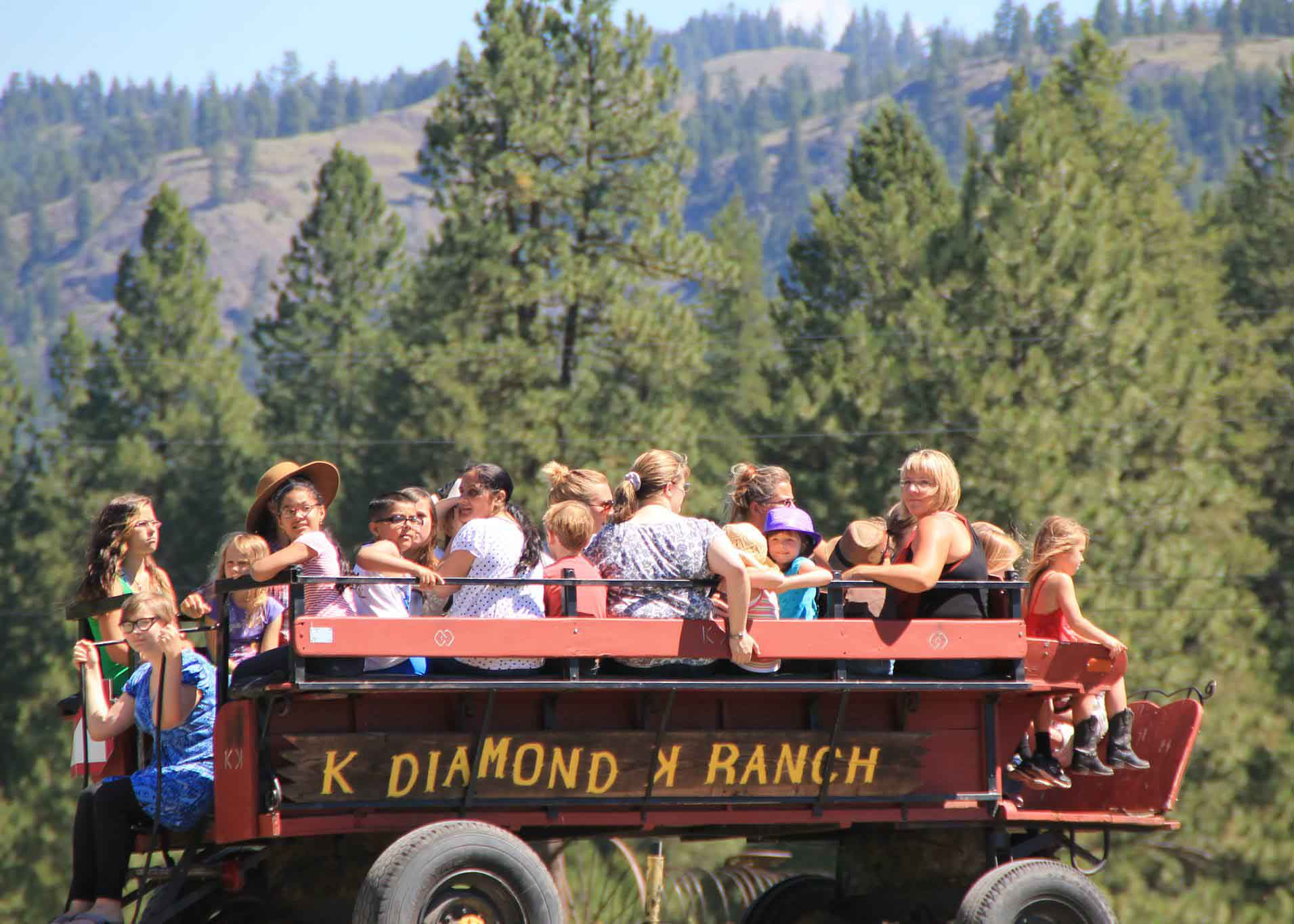 K Diamond K Ranch Wagon Ride Family Vacation Ideas