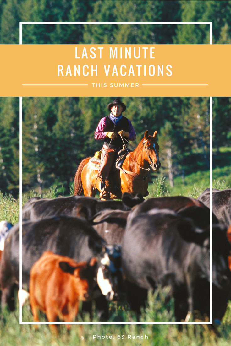 Found some time off for this summer? Check out these dude ranch packages available at dude ranches in the west for a last minute ranch vacation.
