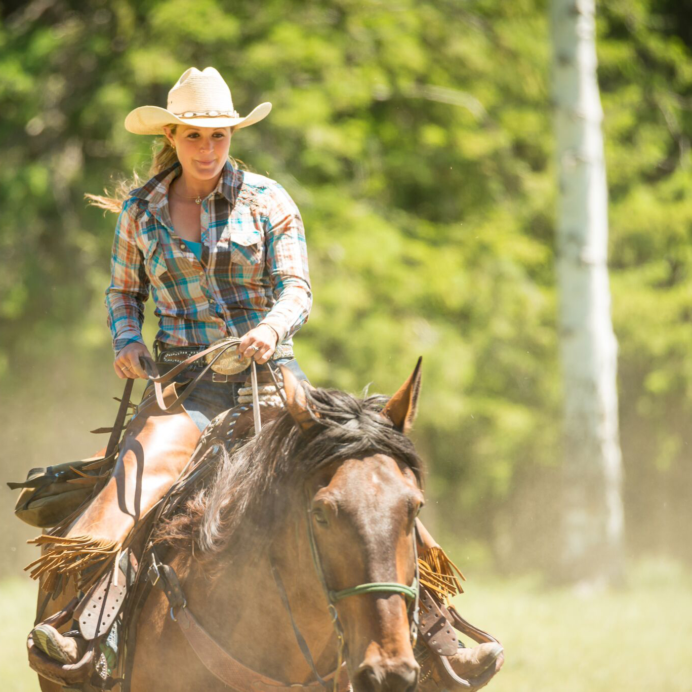 Lone Mountain Cowgirl Loping Dusty Adventure
