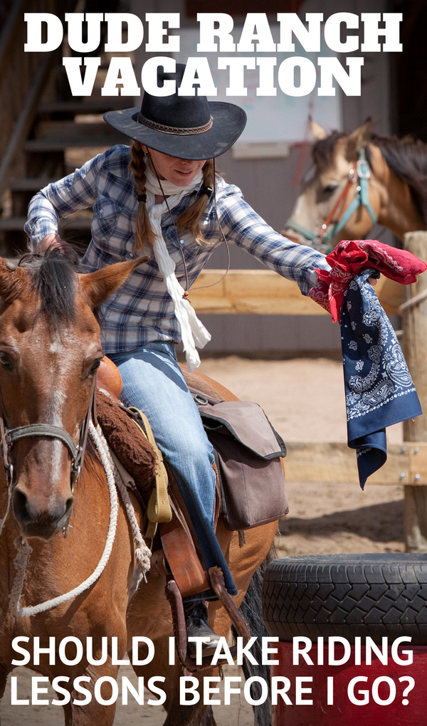 "The Dude Ranchers' Association often receives inquiries about riding lessons before going on a dude ranch vacation. Recently, Philip W asked, ""Should I attend a Western riding school here in England before? Or, would it be better to wait till I am at the ranch in case the teaching here is not as good as (or would conflict with) that which I would receive on the ranch?"" Read more about why we think it may be a good idea to take riding lessons before your stay."