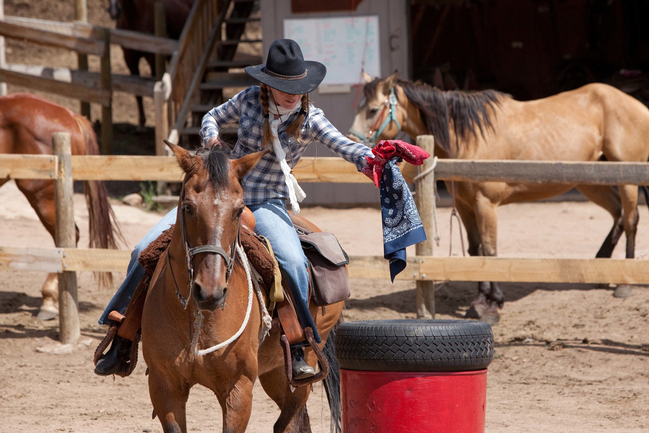 Sundance Trail Arena Rodeo Barrel Race Riding Lesson