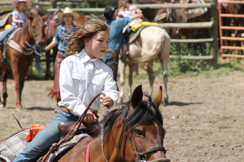 Tumbling River Ranch Teens Barrel Racing
