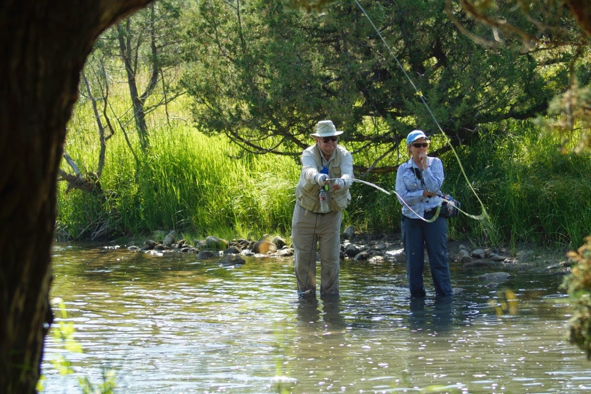 Upper Canyon Fishing Older Couple