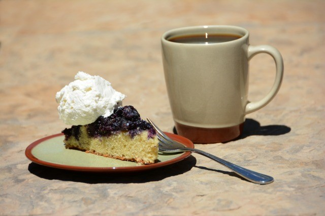 Blueberrry Upside Down Cake from the Vista Verde Ranch