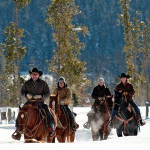 Vista Verde Ranch Snow Trail Ride Family Square