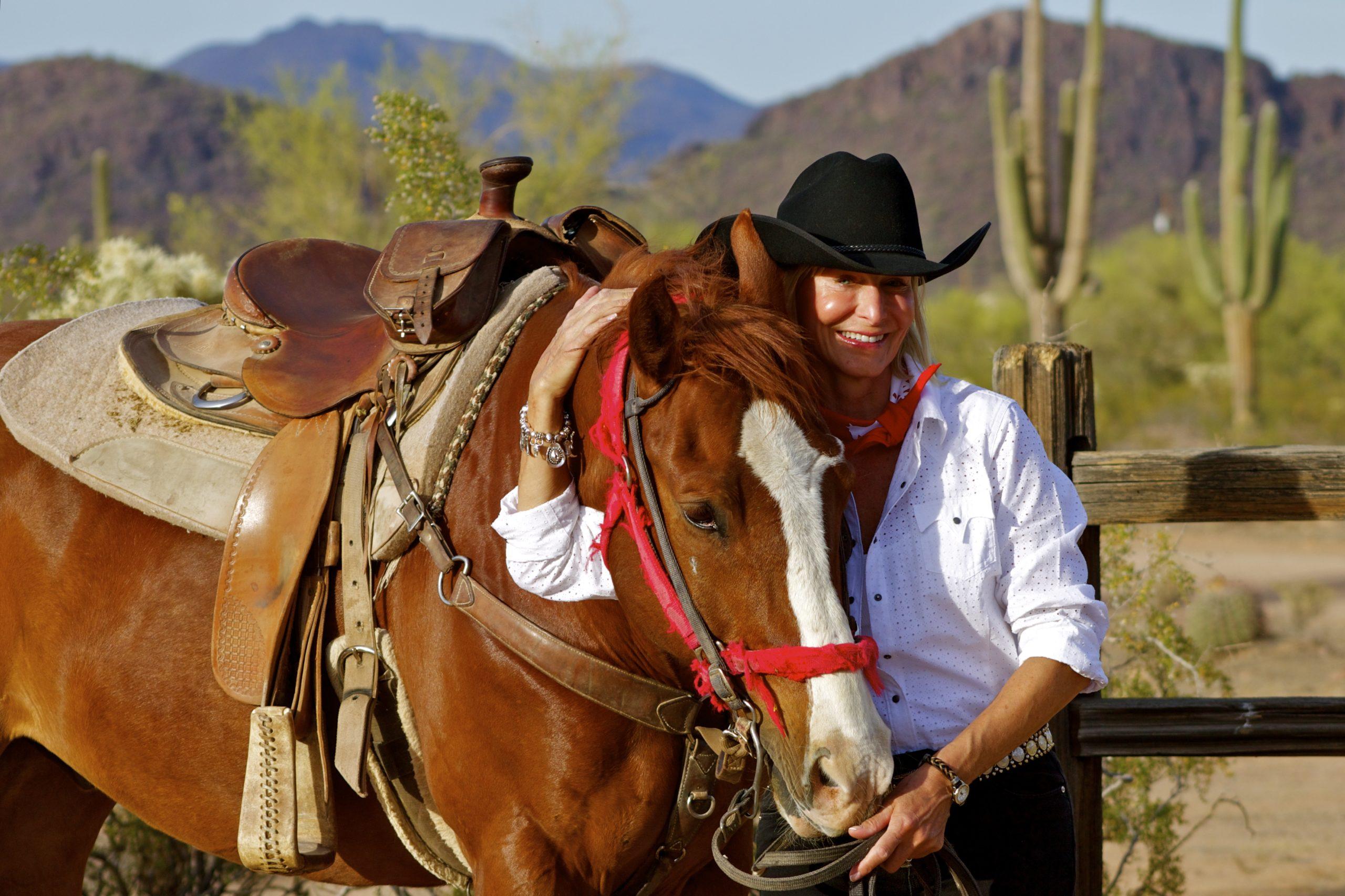White Stallion Cowgirl Cactus