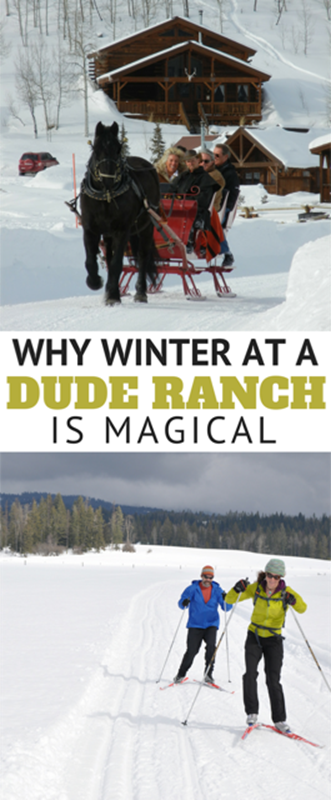 What can you expect at a dude ranch in winter? When the weather turns cold, dude ranch fun is just getting started. Snow sledding, skiing, sleigh rides, and other winter activities. Plus tips for winter vacation planning.