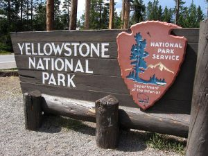 Yellowstone Entrance Sign