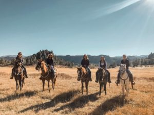 Sundance Trail Ranch Vacations horseback with a view