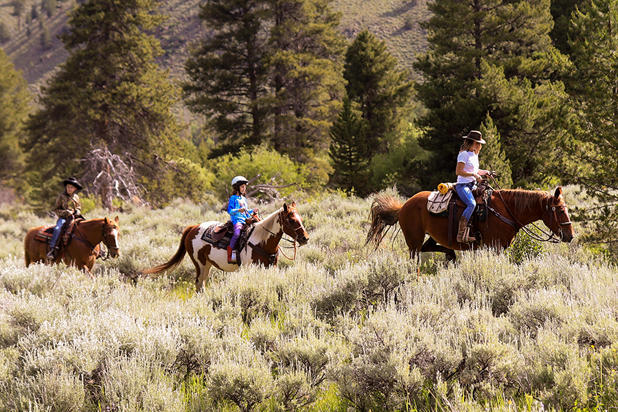 Rawah Ranch trail ride with kids