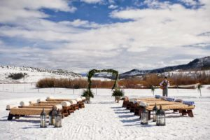 C Lazy U winter-wedding-setup
