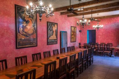 dining room at rancho de la osa